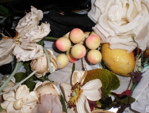 Some Gathered Millinery and Spun Cotton Fruit