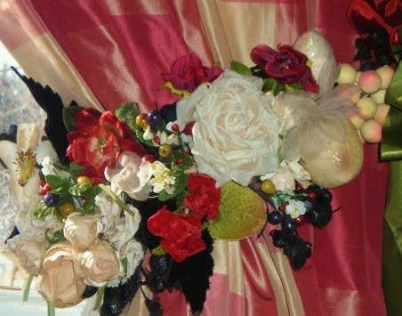 Romantic Millinery Tieback (2)
