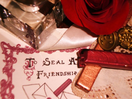 Vintage Sealing Wax and a Red Rose