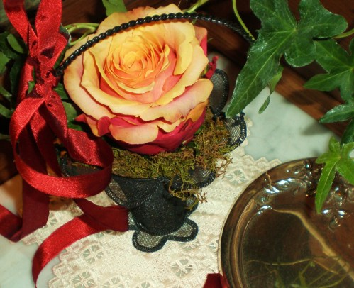 Victorian Rose Basket for a Valentine