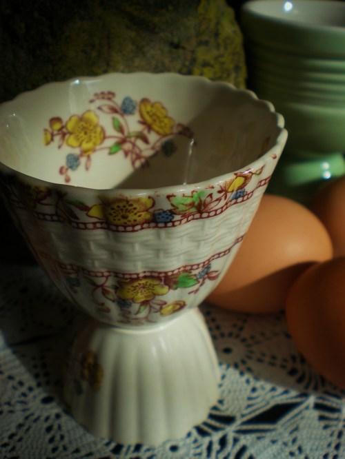 Vintage Floral Egg Cup