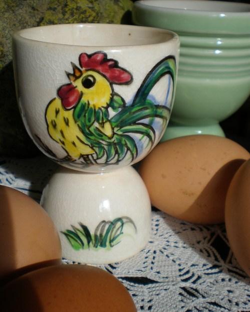 Vintage Rooster Egg Cup