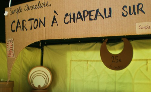 Hat box sign