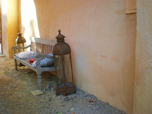 portico with teak bench FAV