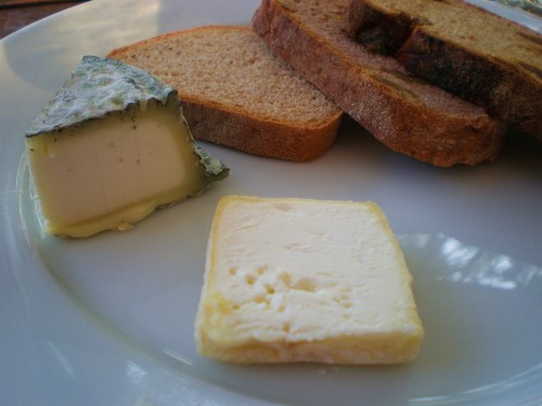 Goat Cheese and Bread Sample